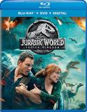 Jurassic World Fallen Kingdom Pratt Howard Goldblum Blu Ray DVD Dc Pg13