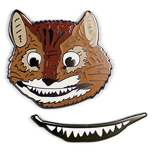 Enamel Pin Set Cheshire Cat + Grin