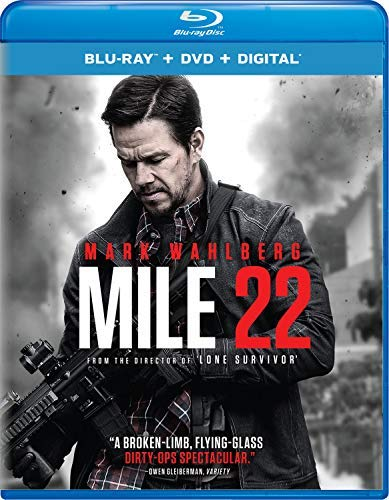 Mile 22 Wahlberg Cohan Blu Ray DVD Dc R