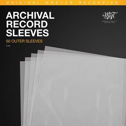 Mobile Fidelity Archival Record Sleeves/Mobile Fidelity Archival Record Sleeves@50 sleeves, 4 mil, room for gatefold jackets