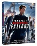 Mission Impossible Fallout Cruise Cavill Rhames Pegg Ferguson Blu Ray DVD Dc Pg13