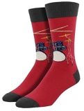 Socks Mens Crew Drum Solo Red