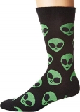 Socks Mens Crew We Come In Peace Blk