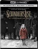 Schindler's List Neeson Fiennes Kingsley 4khd 25th Anniversary Edition R