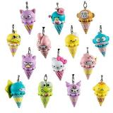 Kidrobot Sanrio Ice Cream Cone Keychain 24 Display Ttlcg017