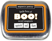 Magnetic Poetry Little Box Of Boo Halloween Kit Words For Refrig