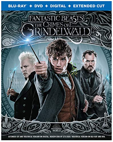 Fantastic Beasts Crimes Of Grindelwald Redmayne Waterston Depp Blu Ray DVD Dc Pg13 Extended Cut