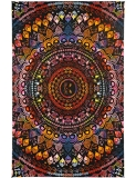Tapestry Rainbow Cat Mandala 3d