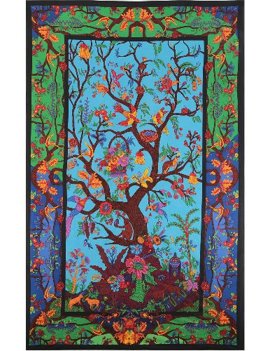 Tapestry 3d Color Tree Of Life 60x90