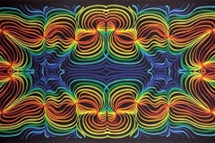 Tapestry 3d Rainbow Ripple Tapestry 60x90