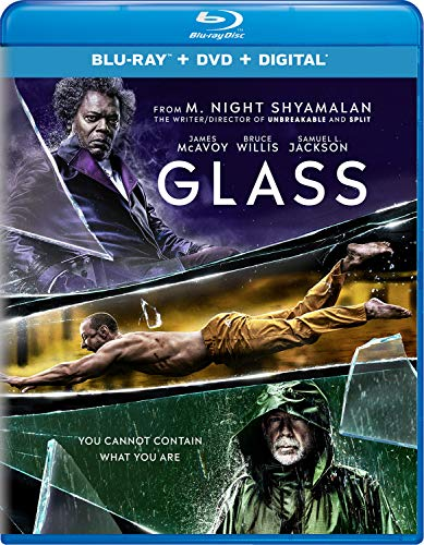 Glass Willis Jackson Mcavoy Blu Ray DVD Dc Pg13
