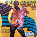 Gg Allin & The Murder Junkies Brutality & Bloodshed For All (red & Bone Vinyl) Red & Bone Colored Vinyl
