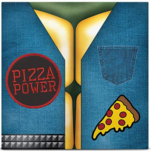 Mikey Leo Donny Raph Pizza Power W 2 Removable Patches 7""