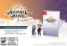 Nintendo Switch Alliance Alive Hd Remastered Awakening Edition
