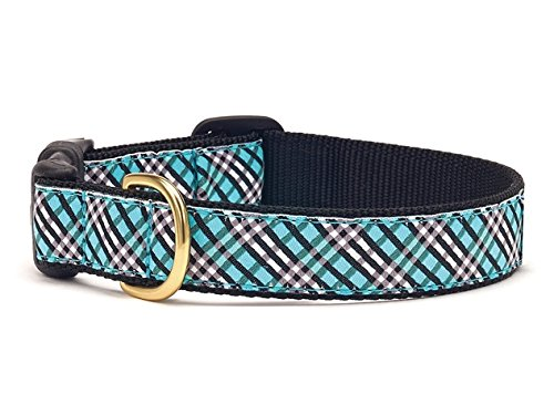 up-country-dog-collar-aqua-plaid