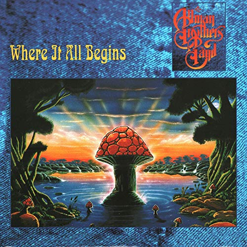 Allman Brothers Where It All Begins 180 Gram Translucent Blue & Black Swirl Vinyl Limited Edition Gatefold Cover & Poster 2 Lp