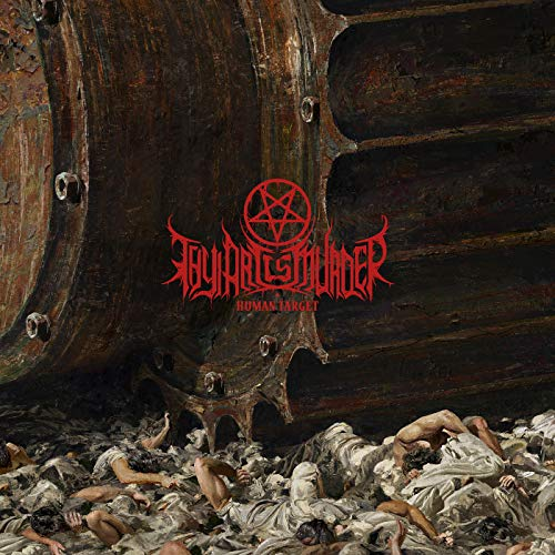Thy Art Is Murder Human Target (brown Black Swirl Vinyl) Ltd To 1000 Copies