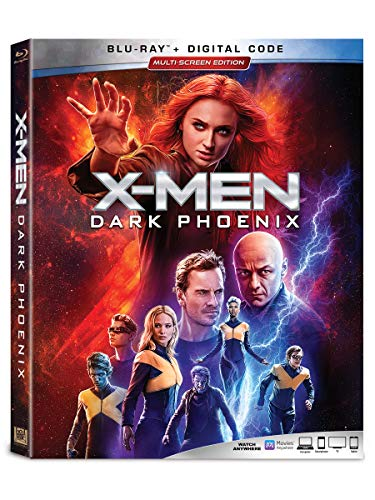 X Men Dark Phoenix Turner Mcavoy Fassbender Lawrence Blu Ray Dc Pg13