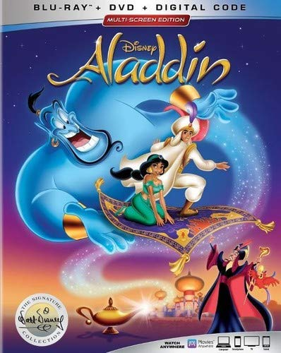 Aladdin Disney Blu Ray DVD Dc Signature Collection