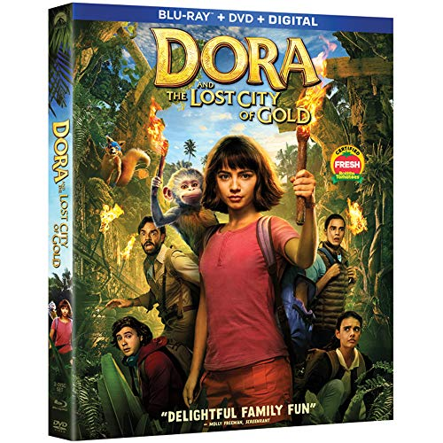 Dora And The Lost City Of Gold Moner Wahlberg Pena Longoria Del Toro Blu Ray DVD Dc Pg
