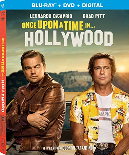 Once Upon A Time In Hollywood Dicaprio Pitt Robbie Blu Ray DVD Dc R