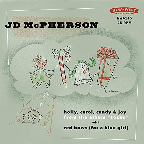 jd-mcpherson-holly-carol-candy-joy-red-bows-for-a-blue-girl-snow-globe-vinyl-clear-with-white-splatter-rsd-bf-exclusive