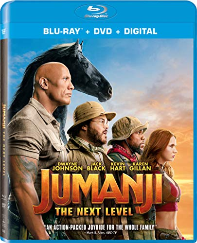 Jumanji The Next Level Johnson Black Hart Gillan Blu Ray DVD Dc Pg13