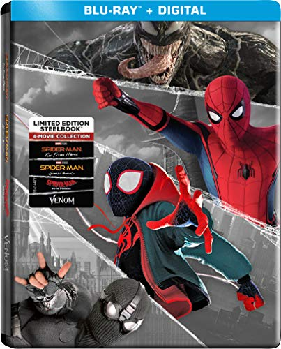 Spider Man Collection Far From Home Homecoming Into The Spider Verse Venom Steelbook