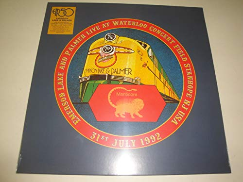 Emerson Lake & Palmer Live At Waterloo Field Stanhope New Jersey U.S.A. 31st July Flame Colored Vinyl Rsd Exclusive Ltd. 1000