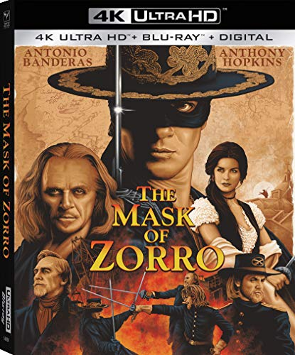 Mask Of Zorro Banderas Hopkins Zeta Jones 4kuhd Pg13