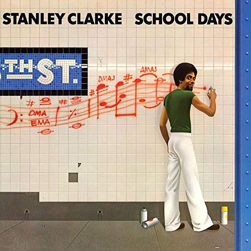 Stanley Clarke School Days 180 Gram Translucent Golden Yellow & Blue Swirl Audiophile Vinyl