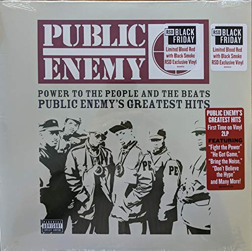 public-enemy-power-to-the-people-the-beats-public-enemys-greatest-hits-2-lp-blood-red-w-black-smoke-vinyl-rsd-bf-2020