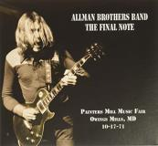 The Allman Brothers Band The Final Note Painters Mill Music Fair Owings Mill Md 10 17 71