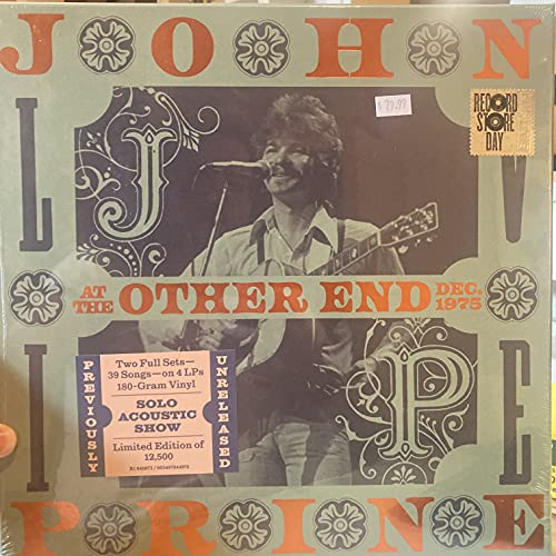 John Prine/Live At The Other End, December 1975@4LP 180G@Ltd. 12000/RSD 2021 Exclusive