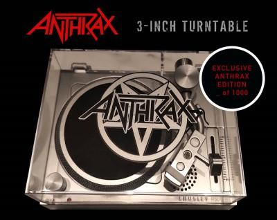 """Turntable/Anthrax Crosley 3"""" RSD turntable@3"""" Turntable@Ltd. 1000/RSD 2021 Exclusive"""