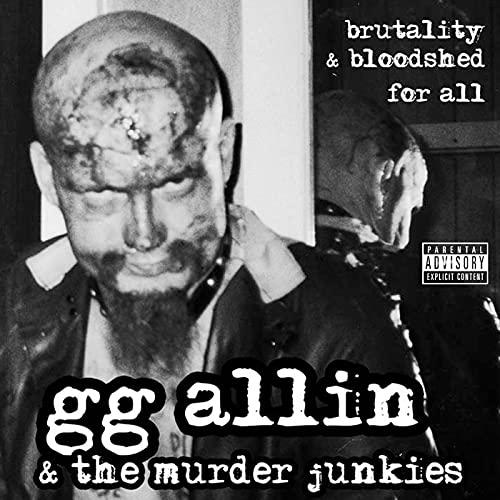 GG Allin & The Murder Junkies/Brutality & Bloodshell For All (CLEAR BLUE VINYL)