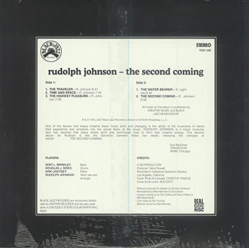 Rudolph Johnson/The Second Coming (INDIE EXCLUSIVE, REMASTERED ORANGE WITH BLACK SWIRL VINYL)