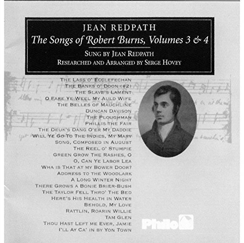 Jean Redpath Vol. 3 4 Songs Of Robert Bur