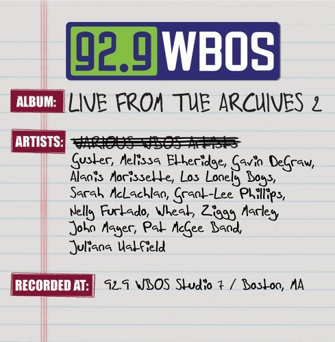 92.9 Wbos Live From The Archi Vol. 2 92.9 Wbos Live From Th 92.9 Wbos Live From The Archi