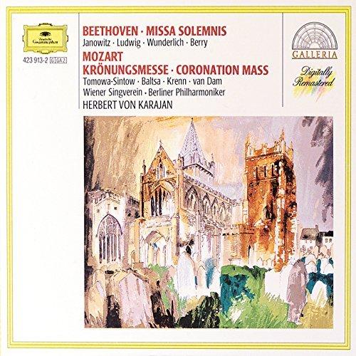 Beethoven/Mozart/Missa Solemnis/Coronation Mass@Janowitz/Ludwig/Wunderlich/&@Karajan/Berlin Po