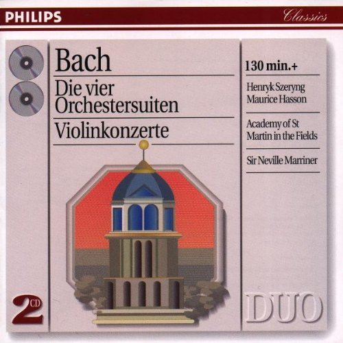 J.S. Bach 4 Orchestral Suites Violin Con Szeryng (vn) Hasson (vn) Marriner Asmf