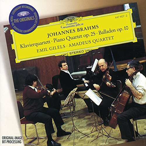 Gilels/Amadeus Quartet/Piano Quartet/Ballades Op. 10@Gilels*emil (Pno)@Amadeus Qt