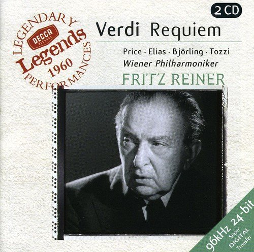G. Verdi Requiem Sacred Pieces (4) Price Elias Bjorling Tozzi & Various
