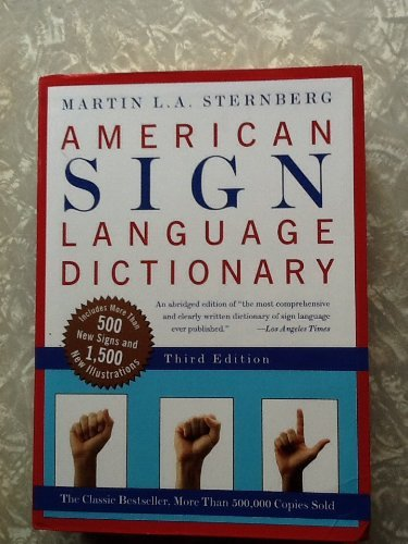 Martin L. Sternberg American Sign Language Dictionary Flexi Abridged