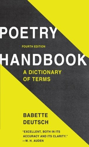Babette Deutsch Poetry Handbook 0004 Edition;revised
