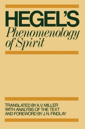G. W. F. Hegel Phenomenology Of Spirit Revised