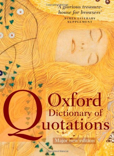 Elizabeth Knowles Oxford Dictionary Of Quotations 0007 Edition;