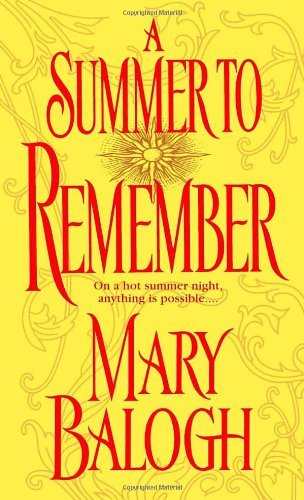 Mary Balogh A Summer To Remember A Bedwyn Family Novel