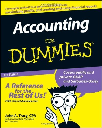 John Tracy Accounting For Dummies 4 Edition;