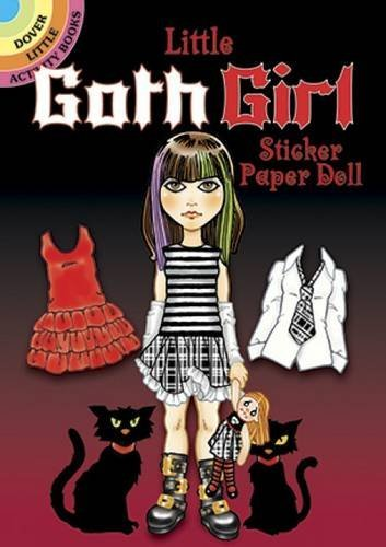 Ted Menten Little Goth Girl Sticker Paper Doll